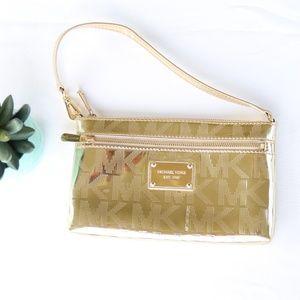 Michael Kors Jet Set Gold Wristlet Wallet
